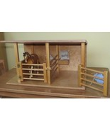HORSE STABLE WOOD TOY Amish Handmade Breyer Homeschool Montessori BARN P... - $108.87