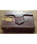 ANTIQUE BOOK 1819 Red Leather Miniature Pocket Psalms Metre Church Scotland - $137.19