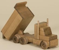 LARGE WOOD DUMP TRUCK - Handmade Working Construction Wooden Toy HUGE Am... - $107.77