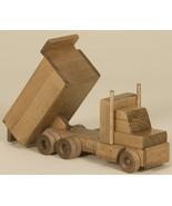 WOOD DUMP TRUCK  Amish Handmade WOODEN Construction Homeschool Toys HUGE... - $128.67