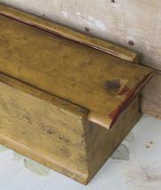 Cherry Wood Sliding Lid Candle Box Dovetailed PA Dutch German Folk Art AAFA - $345.49