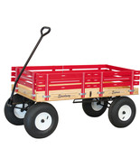 """4' WAGON with HAND BRAKE - 48"""" x 24½"""" RED PINK GREEN BLUE Amish Garden C... - $377.27"""