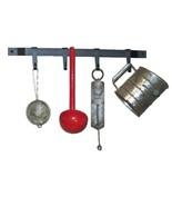 Wrought Iron Kitchen Utensil Holder Rack Metal Wall Bar Hooks USA Handmade - $21.77