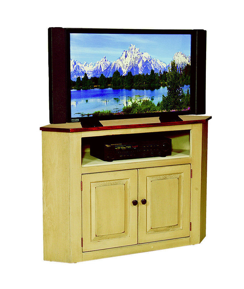 corner tv television console cabinet amish handmade maple. Black Bedroom Furniture Sets. Home Design Ideas