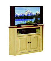 CORNER TV TELEVISION CONSOLE CABINET Amish Handmade Maple Furniture Stand - €884,97 EUR