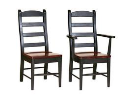LADDERBACK DINING CHAIR Wormy Maple Amish Handmade Furniture Custom Fins... - $464.51+