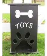 Handmade PET TOY BOX Wood Dog Cat Storage w Bone Paw Print Custom Finish... - $112.67+