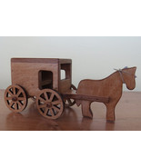 Genuine Amish HORSE and BUGGY Wood TOY Handcrafted Preschool Toddler Chi... - $40.56