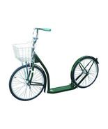 "20"" AMISH SCOOTER - DARK GREEN - Kick Foot Bike w Basket Brakes & Racing... - $312.61"