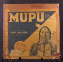 ADVERTISING CRATE Sunkist MUPU Oranges NATIVE AMERICAN Indian Citrus Ass... - $24.37