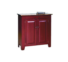 STORAGE CABINET CUPBOARD w/ Doors Custom Finished Maple Top Wooden PA Amish - $503.89
