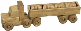 BARREL DELIVERY TRUCK - Wood Tractor Trailer & Cargo Load Amish Handmade... - $39.17