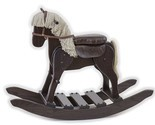 WOODEN ROCKING HORSE w SADDLE USA Handmade Toddler Nusery Wood Toy Furniture