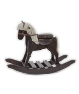 WOODEN ROCKING HORSE w SADDLE USA Handmade Toddler Nusery Wood Toy Furni... - $326.31