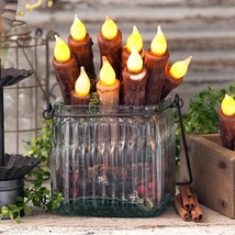 """7"""" DECOR CANDLES Set of Twelve (12) Battery Operated Tapers w Timer in 3 Colors - $90.00"""
