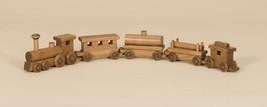 "33"" WOOD TOY TRAIN - Engine & 4 Cars Amish Handmade Working Toys USA - $127.37"