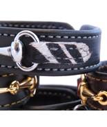 Black Leather Faux Fur Zebra Print Silver Horse Snaffle Bit Bracelet Equ... - £32.34 GBP