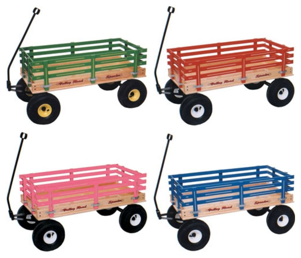 Amish Wagon Parts : Classic wagon quot wood or poly garden beach cart kids