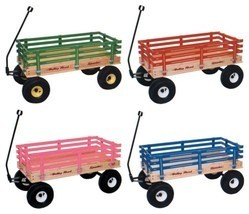 "CLASSIC WAGON 36"" Wood or Poly Garden Beach Cart Kids Wooden Pull Toy Am... - $339.27+"