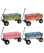 "CLASSIC WAGON 36"" Wood or Poly Garden Beach Cart Kids Wooden Pull Toy Am... - $335.85+"