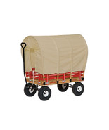 "LARGE AMISH CONESTOGA COVERED WAGON 48"" w/ 6½ Wide Off Road Tires *4 Col... - $641.26"