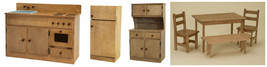 CHILDREN'S KITCHEN HUTCH - Amish Handmade Solid Wood Play Toy Furniture USA - $391.97