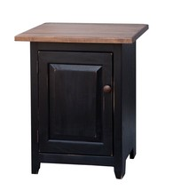 NIGHTSTAND END TABLE  Amish Handmade Shaker Wormy Maple Bedroom Stand w ... - $480.66