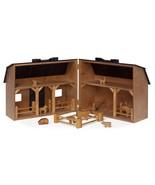 Wood Toy Farm with Folding Barn Play Animals & Fence - Amish Handmade in... - $257.37