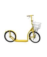 "16"" AMISH KICK SCOOTER BRIGHT YELLOW Foot Bike w/ Basket Handbrake MADE ... - $299.87"