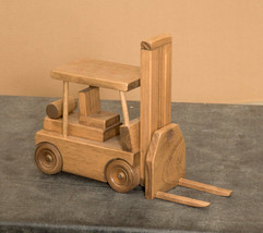 FORKLIFT with PALLET - Working Wood Construction Toy Truck Amish Handmad... - $78.37