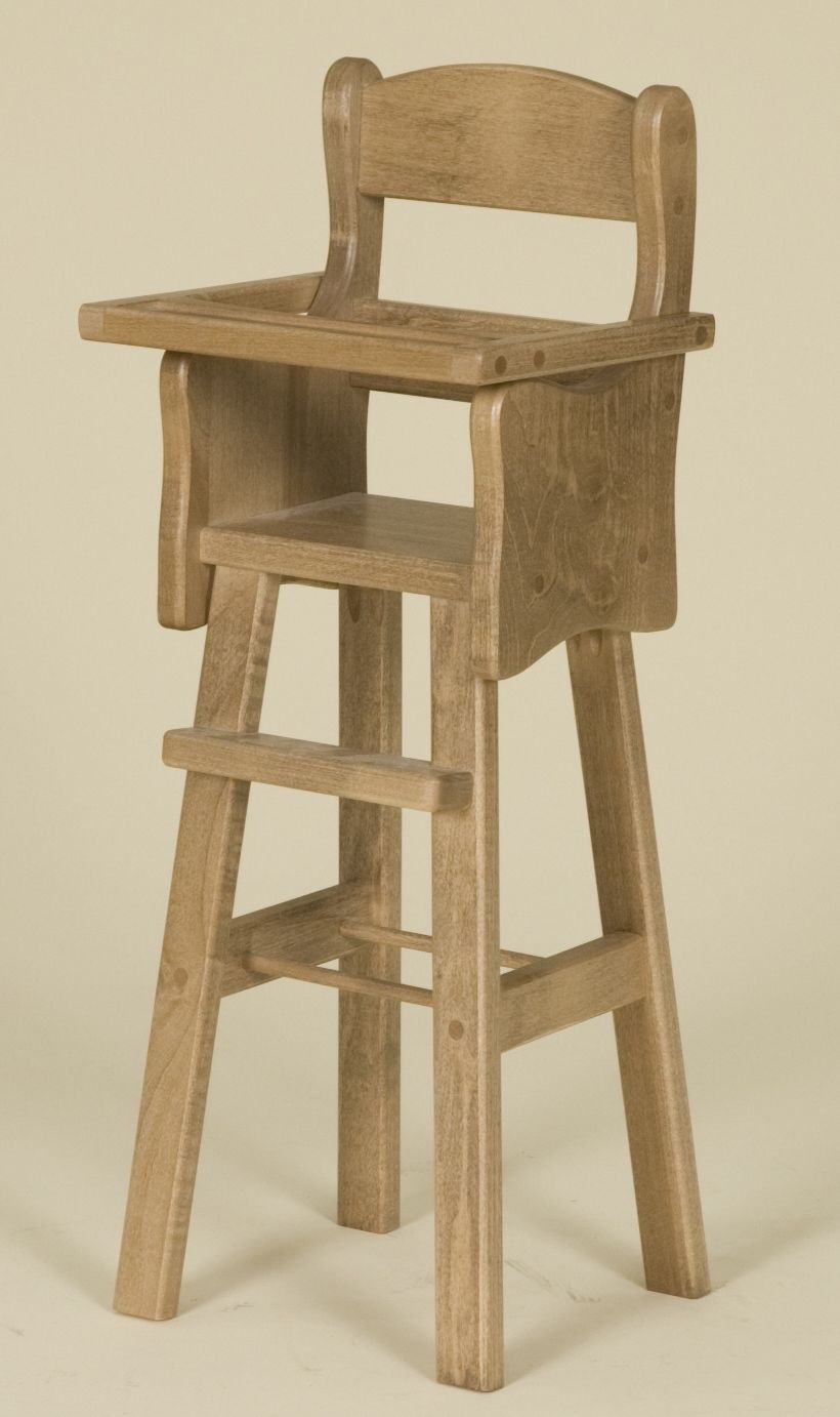 Doll high chair amish made furniture in usa