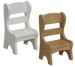 "DOLL CHAIR Classic Hump Back Handmade Oak Wood Furniture 18"" Dolls - $59.37"