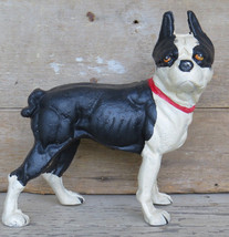 CAST IRON DOG DOORSTOP Large French Bull Statue Metal Boston Terrier Pup... - $81.29