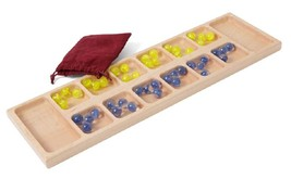 MANCALA GAME BOARD - Amish Handmade Solid Maple with Marbles and Storage... - $79.17
