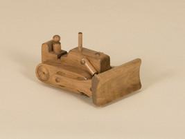 BULLDOZER WOOD TOY - Amish Handmade Working Construction Truck Waldorf P... - $73.47