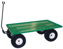AMISH STEEL BED WAGON Green Utility Lawn Yard Garden Beach Picnic Pull C... - $547.59+