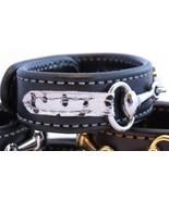 Black Leather Zebra Print Equestrian Horse Silver Snaffle Bit Bracelet H... - €38,89 EUR