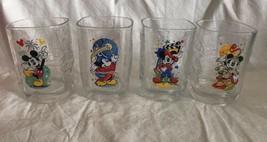 Disney Mickey Mouse 2000 Millennium Anniversary Rare Glasses Set McDonald's (4) - $23.75