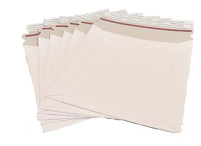 10 11x13.5 Stay Flat Rigid Mailer Cardboard White Envelope Photo 450GSM