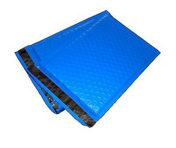 100 4x8 BLUE Poly Bubble Mailer Envelope Shipping Wrap Air Mailing Bags 4x8 - $23.44