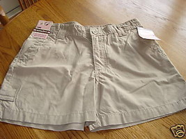 Girls shorts 16 R NWT 28.00 adjustable waist Lee sand youth - $17.82