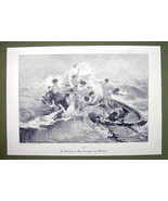 NUDE Fight for Life Boat on Sea Survivors Men W... - $14.84
