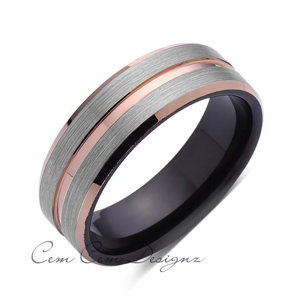 Black Tungsten Weding Rings 010 - Black Tungsten Weding Rings