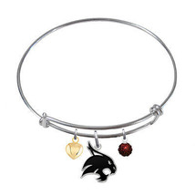 Texas State Bobcats Sterling Silver Bangle Brac... - $79.00