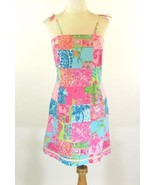 LILLY PULITZER Size 6 Pristine Tropic Patchwork Sundress Dress - $69.98