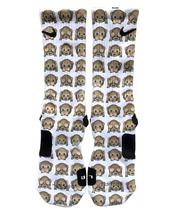 Custom Emoji Monkey Nike Elite Socks ALL Sizes FAST SHIPPING - $23.99