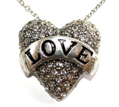 Beauty for Ashes Girls Fashion Cute God is Love Heart Pave Crystal Necklace - $7.97