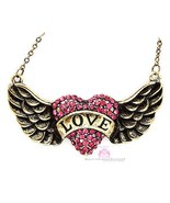 Beauty for Ashes®  His Banner Over Me Is Love Heart Angel Wing Crystal N... - $24.95