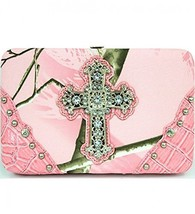 Light Pink Camouflage Cross Wallet Clutch - $23.88 CAD