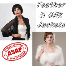RUSH ORDER for Silk and Feather Jackets & Wraps - $23.00